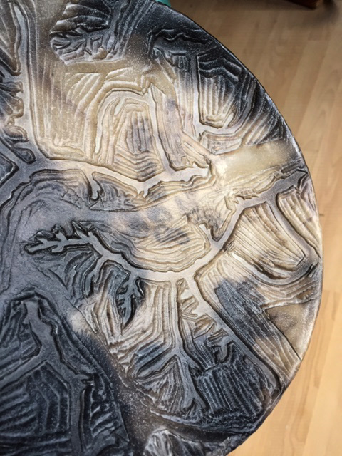 oiled plate