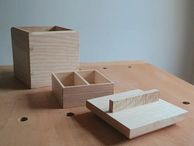 Handmade trinket box dovetail joint