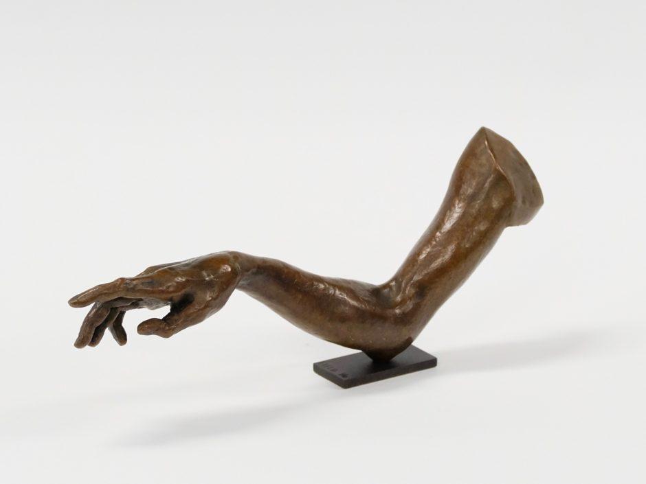 Bronze sculpture arm