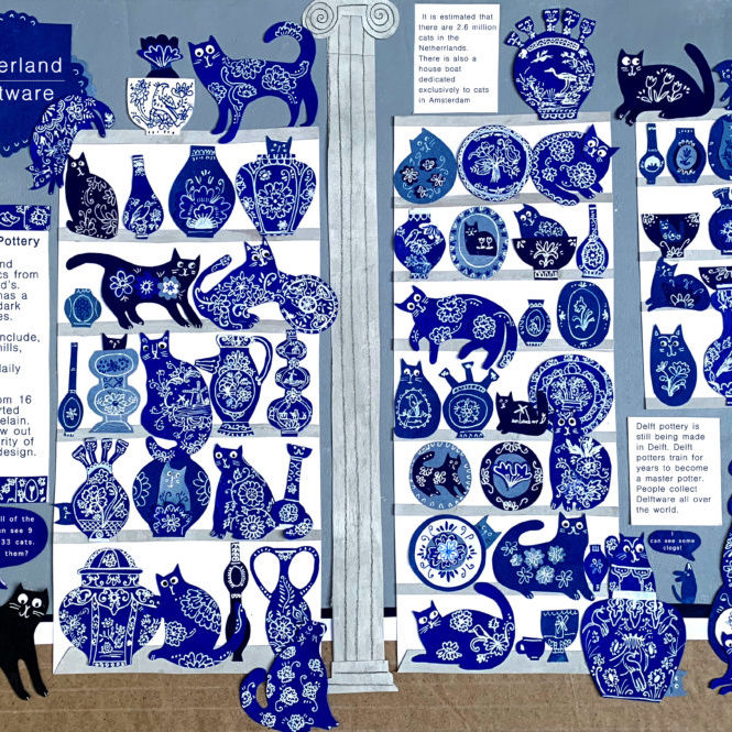 LAURAWINSTONE Delftware cats